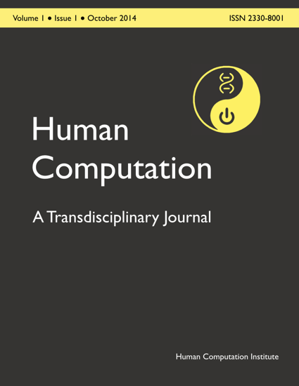 Human Computation, Volume 1, Issue 1, October 2014